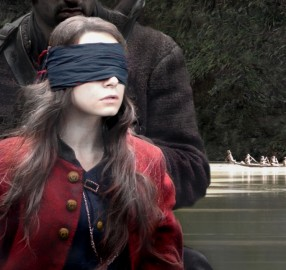 Sarah blindfolded