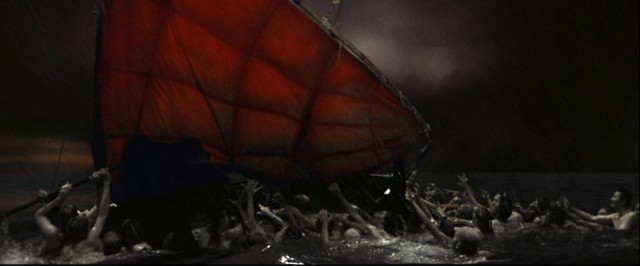 Damned souls converge on the boat