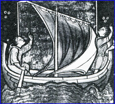 monks in boat flying seamonster giulia CROPPED